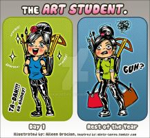 The Art Student by InkWorthy