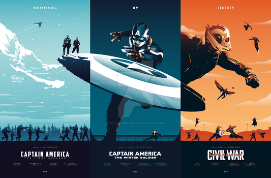CAPTAIN AMERICA Trilogy by RicoJrCreation
