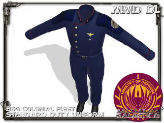 [MMD] Colonial fleet Duty Uniform DL by Riveda1972