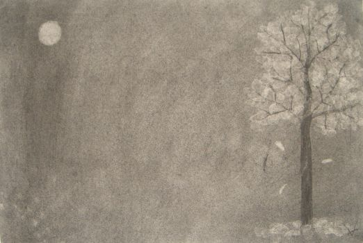 charcoal drawing by Mutany
