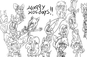 Gift: A Cast Of Friends!! (Read the description!) by Fancy-Toons98