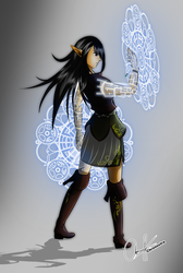 Elf Mage by Chronostra