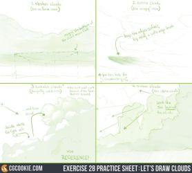 Exercise 28 Practice Sheet: Let's Draw Clouds by CGCookie