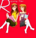 Reading Time with Italy sister by ViiChama