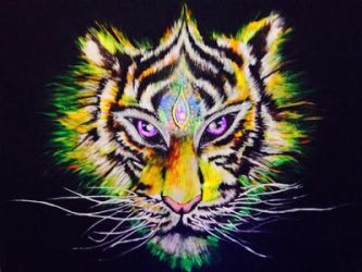 Third eye tiger  by bOrNpSyChO