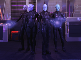 Asari commando by hellenys