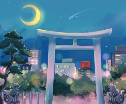 Moon Scenery by Mellodee