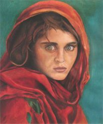 afghan girl by stolenpearll