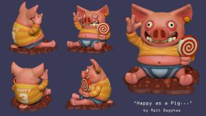Happy as a Pig... by mattbag