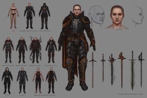 Concepts for a character by MeMyMine