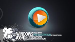 Windows Media player Icon by sargsyan
