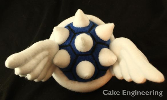 Mario Blue Koopa Shell - Back View by cake-engineering