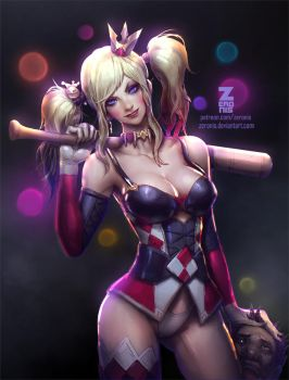 Harley Quinn - NSFW Optional by Zeronis
