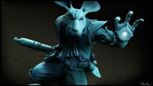 Cyborg Rabbit by SupportCOMMAND