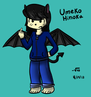 Umeko Hinoka (Original Character) (Redrew+Color) by VioletLinked