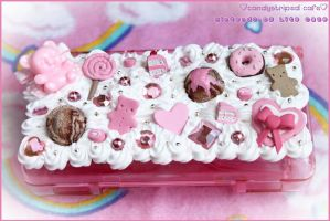 deco ds lite case by CandyStripedCafe