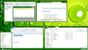 Luna Dark Green Windows 8.1 Theme by winxp4life