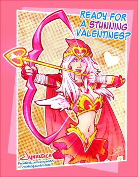 Cupid Ashe | League of Legends by Jynxed-Art