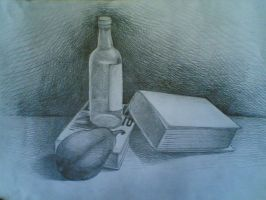 Bottles and Papers by MiddleLightRiver