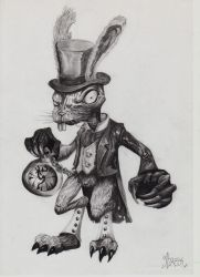 Alice's Evil Rabbit by Wax3212