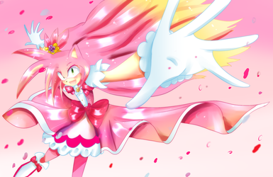 Cure Flora (Sonic style-Amy Rose) by MikuKawaine
