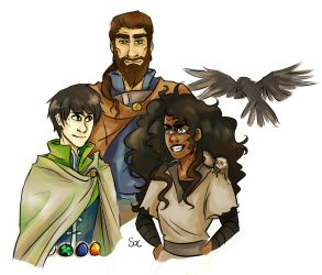 Lief, Barda, and Jasmine by SixofClovers