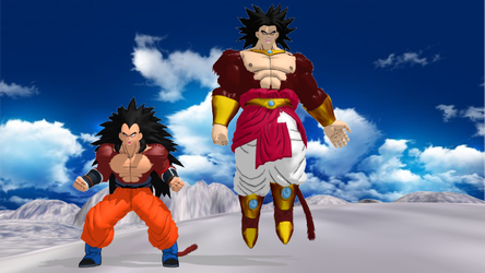 Ssj4s Raditz and Broly  no DL by ultimate44
