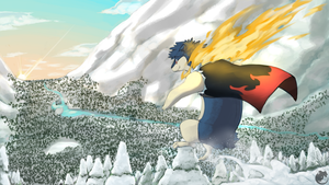 Commission - Jelrin the Typhlosion by ClockworkShrew