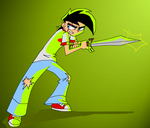 Danny Fenton with a Sword- Finished by PoisonIVy10