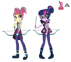Sour Sweet and Twilight Archery Style by Karalovely