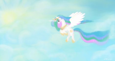 Princess in light of the sun's rays. by AmethystHorn