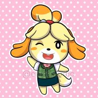 Isabelle from Animal Crossing by EniseStudio