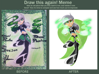 Draw This Again: Dani Phantom by HalfafanD