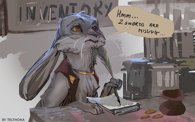 Shopkeeper by telthona