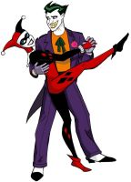 Joker and Harley Dancin by insectikette