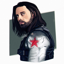 Marvel: Bucky by VonVanil