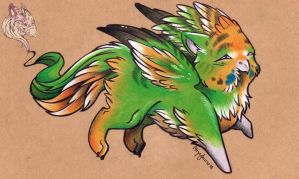Lil Budgerigryph by Idlewings