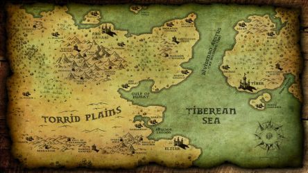Map of a fantasy world by RealMarkP
