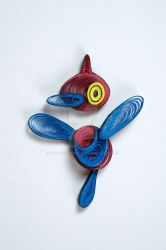 Pokemon Paper Quilling Art 474 Porygon-Z by wholedwarf