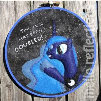 Luna Embroidery Hoop by MelloReflections