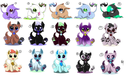 Free Adopts! (CLOSED) by PsychoBerries