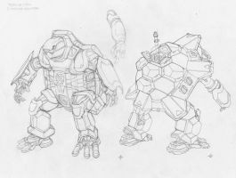 Animal Style Designs 02: Fear the Mecha! by JohnStaton