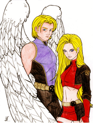 Archangel and Husk by oracle0422