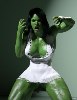Savage She-Hulk by rosepab