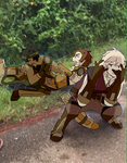 gray and tobin fight while kliff poses being usele by shintarouee