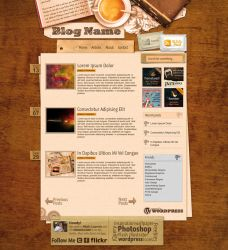 Caffe-Break Themed Blog Layout by colaja