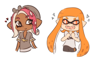 Octoling n Inkling by SparxPunx