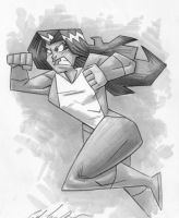 she hulk charges by Madatom