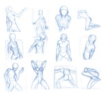 Random poses 24 by BBstudies