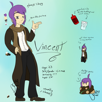 Vincent Reference (before the incident) by DelightfullyOdd